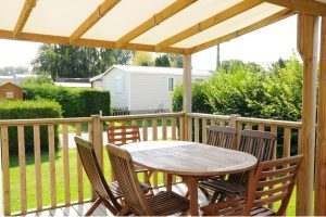Location mobil-home Cortes Camping**** L'Escapade en Normandie